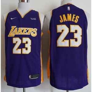 Los Angeles Lakers LeBron James 23 Jersey Purple